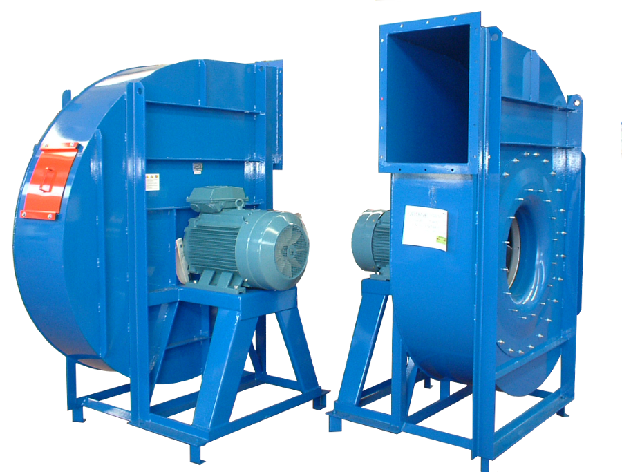 Engine Driven Centrifugal Blower : Centrifugal fans with backward curved blades komet