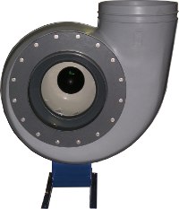 Centrifugalni ventilator z nazaj zakrivljenimi lopaticami