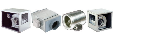 Centrifugal duct fans